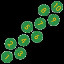 Hinkelbaan van EPDM voor een kinderhoek