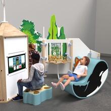 Een overzichtsafbeelding van een complete speelhoek voor kinderen.