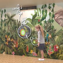 interactief wandspel voor kinderen met drukknoppen en geluid